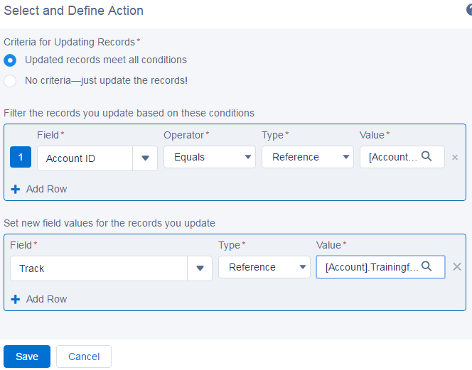 Process Builder : Update child records based on changes in