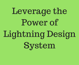 Learn how to use the Lightning Design System in Lightning