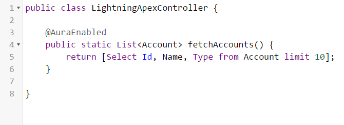 Learn how to call an Apex class from a Lightning component